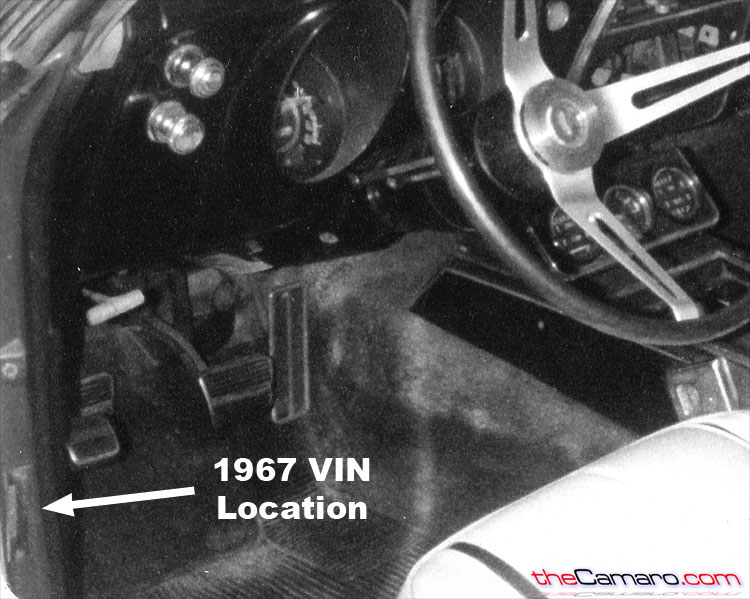 1967 camaro vehicle identification number vin locations and decoding